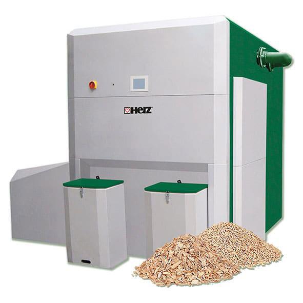 Cazan aschii lemn peleti - herz bioenergy