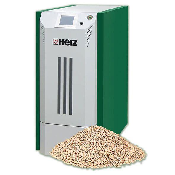 Cazan pe peleti pelletstar 10 60 - herz bioenergie