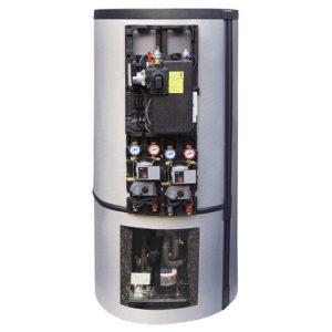 doi in unu pompa de caldura rezervor tampon - herz bioenergie